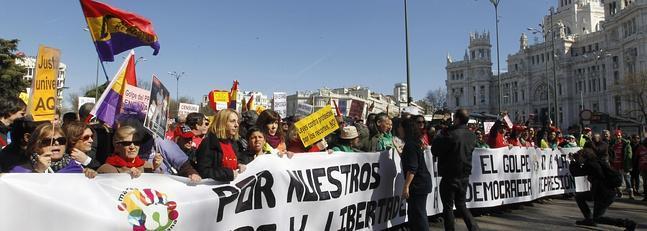 Las mareas ciudadanas toman el centro de Madrid